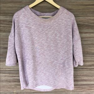 BODEN purple off duty 3/4 sleeve purple sweatshirt